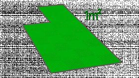 1m² de dalle en polypropylène verte