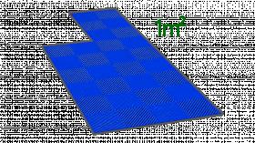 1m² de dalle en polypropylène bleu