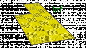 1m² de dalle en polypropylène jaune