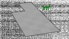 1m² de dalle en polypropylène gris clair