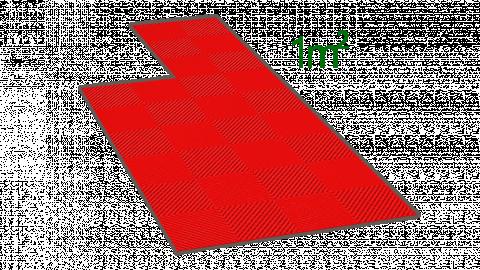 1m² de dalle en polypropylène rouge