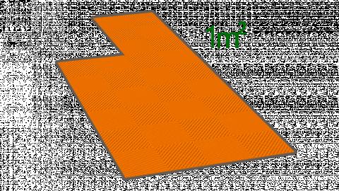 1m² de dalle en polypropylène orange