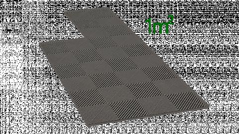 1m² de dalle en polypropylène gris foncé